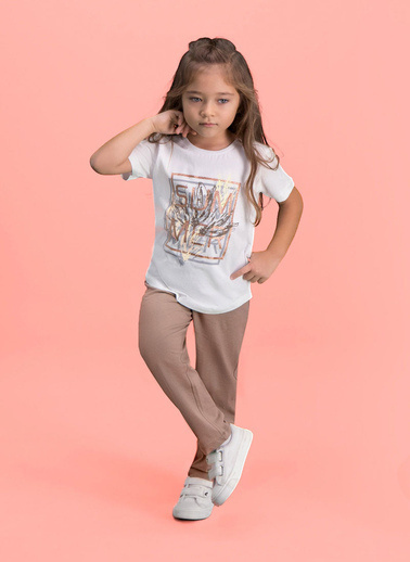 Roly Poly Rolypoly Sum Mer Kız Çocuk Pijama Takımı Krem